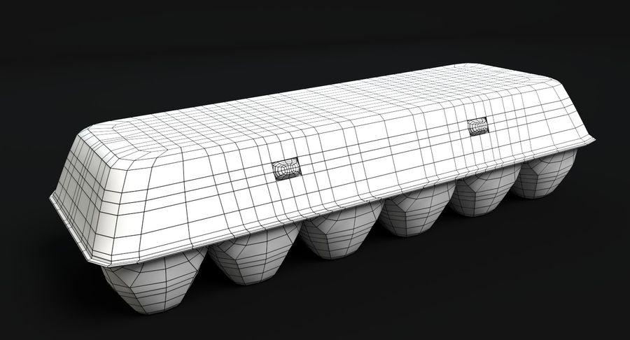 Cartón De Huevo Cerrado royalty-free modelo 3d - Preview no. 5