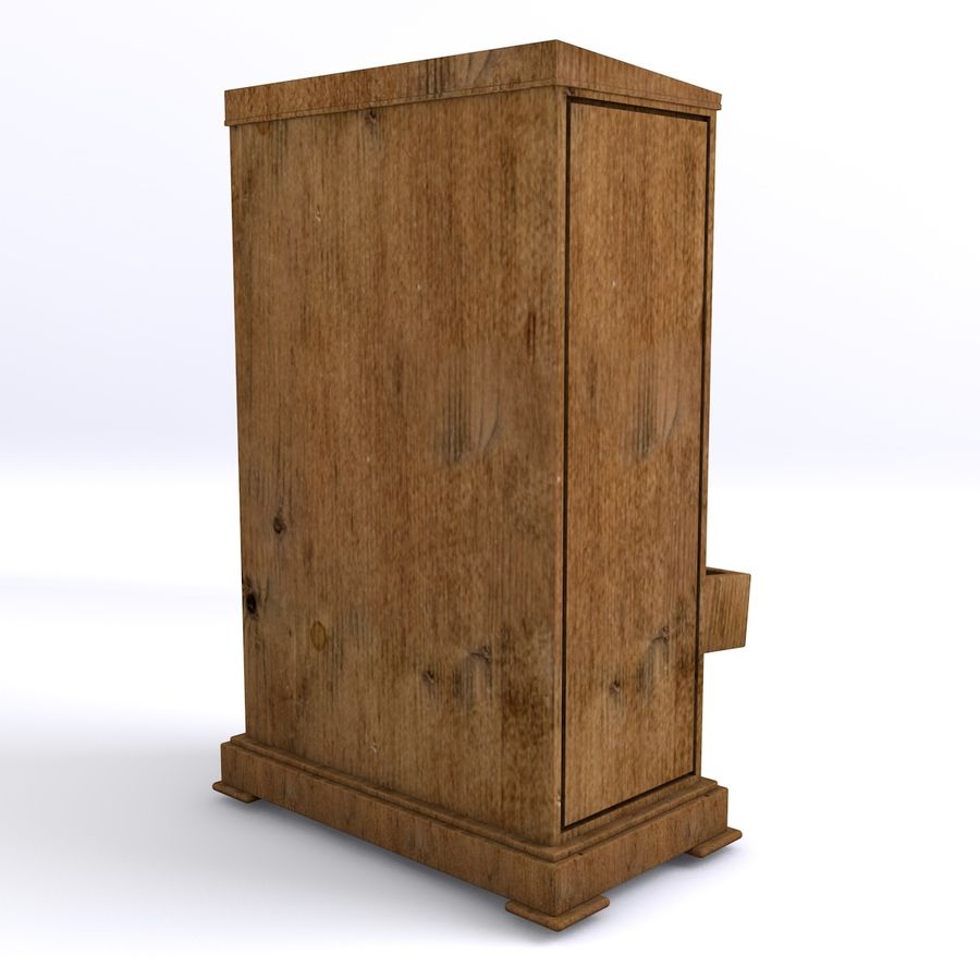 meubles en bois royalty-free 3d model - Preview no. 5