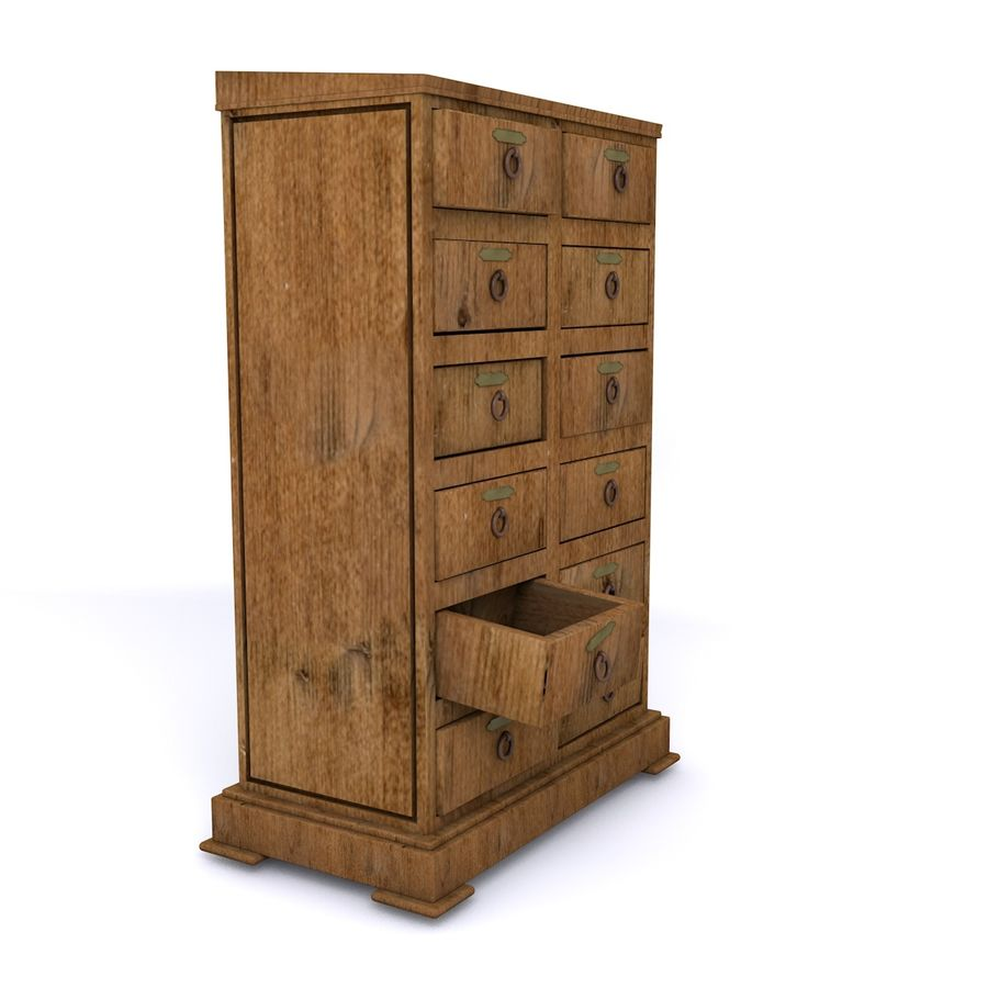 meubles en bois royalty-free 3d model - Preview no. 4