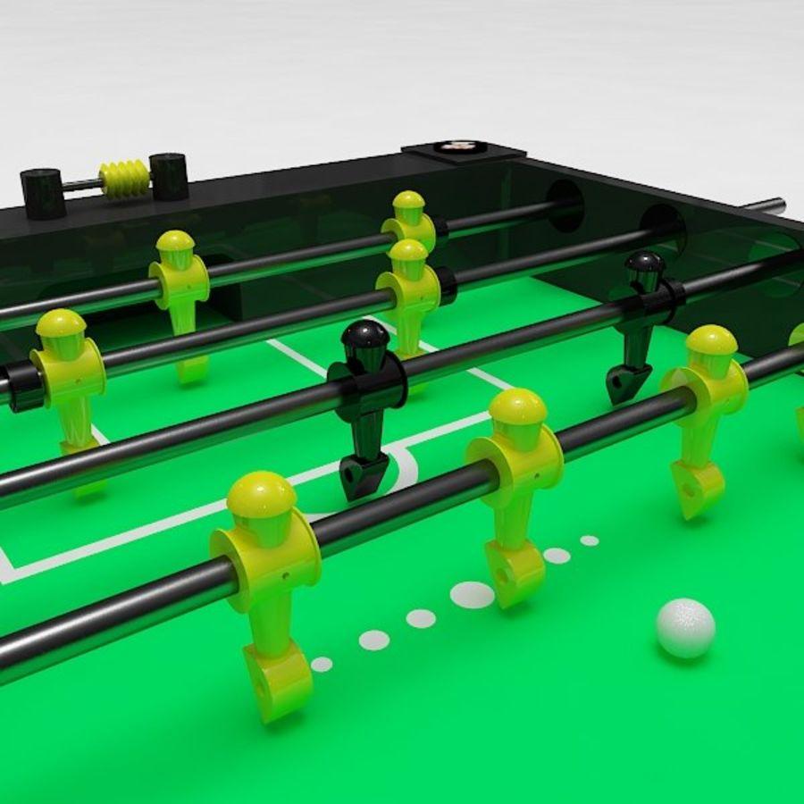 Stół piłkarski royalty-free 3d model - Preview no. 4