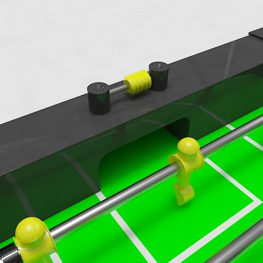 Stół piłkarski royalty-free 3d model - Preview no. 5