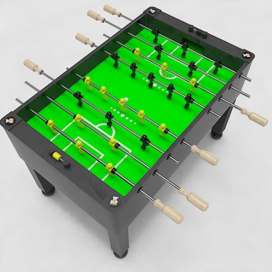 Stół piłkarski royalty-free 3d model - Preview no. 10
