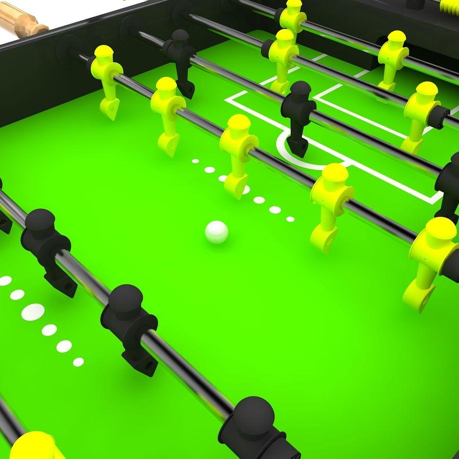 Stół piłkarski royalty-free 3d model - Preview no. 2