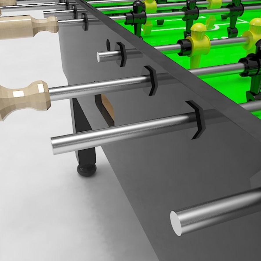 Stół piłkarski royalty-free 3d model - Preview no. 9