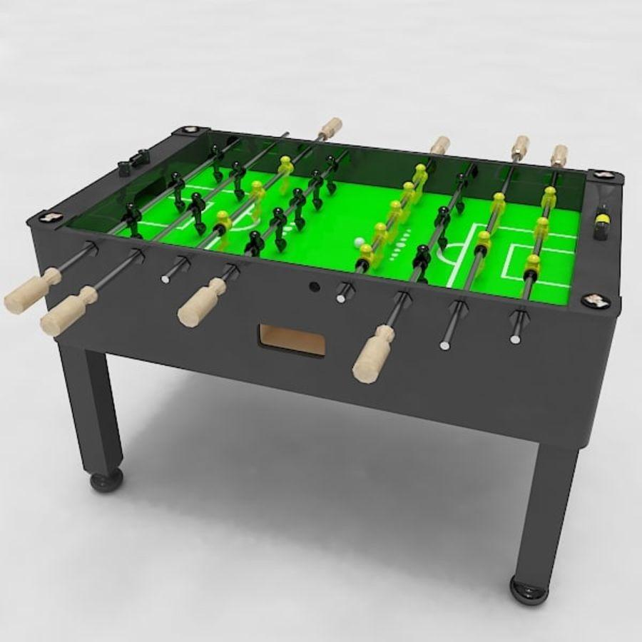 Stół piłkarski royalty-free 3d model - Preview no. 8