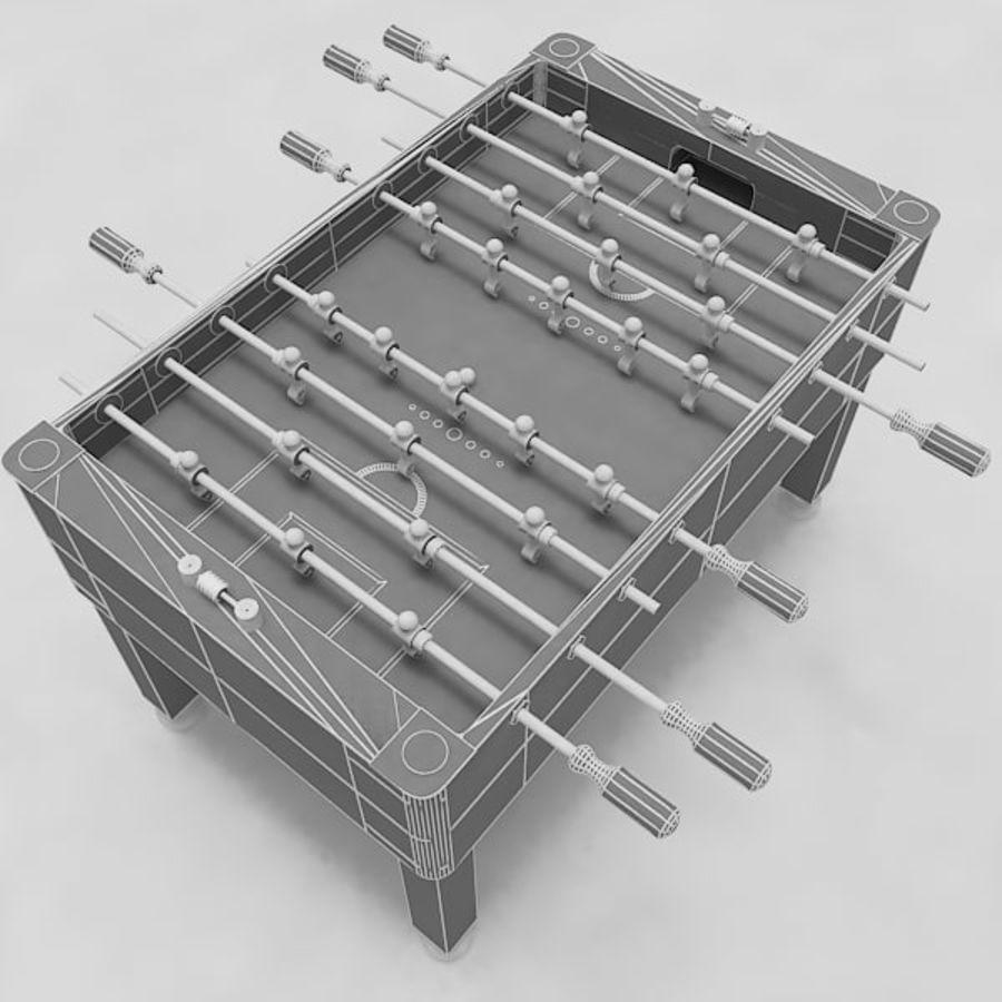 Stół piłkarski royalty-free 3d model - Preview no. 11