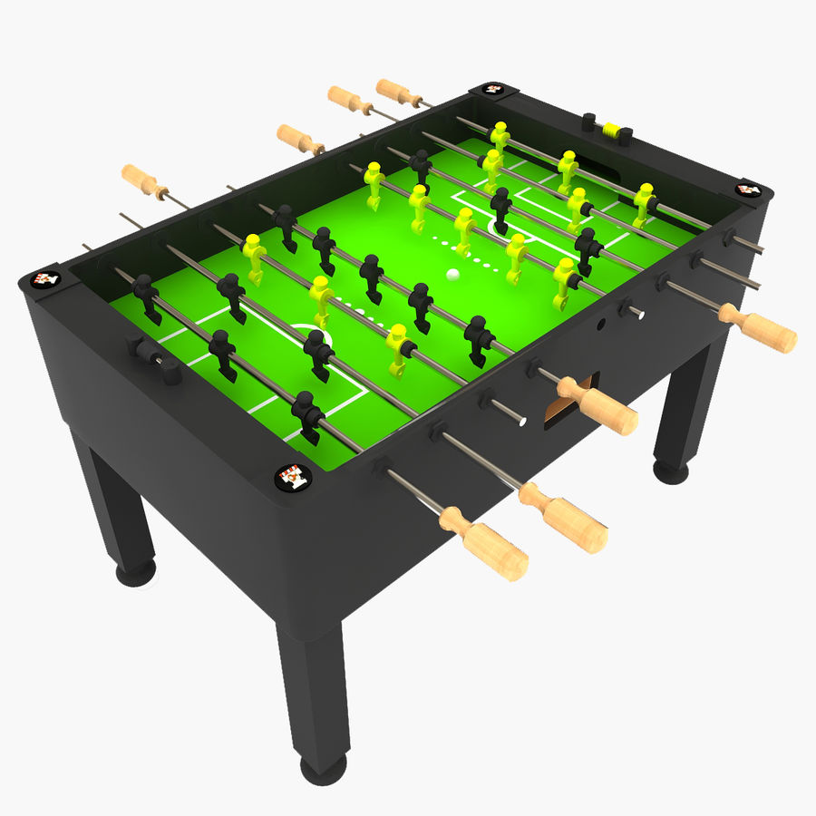 Stół piłkarski royalty-free 3d model - Preview no. 1