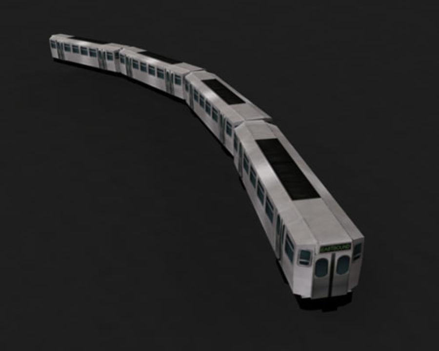 Вагон метро низкополигональная royalty-free 3d model - Preview no. 4