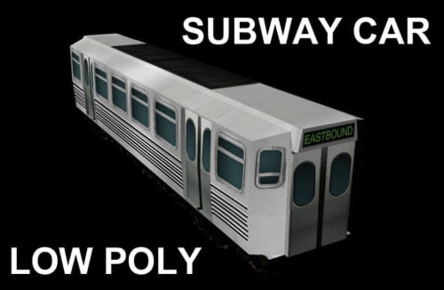 Вагон метро низкополигональная royalty-free 3d model - Preview no. 1