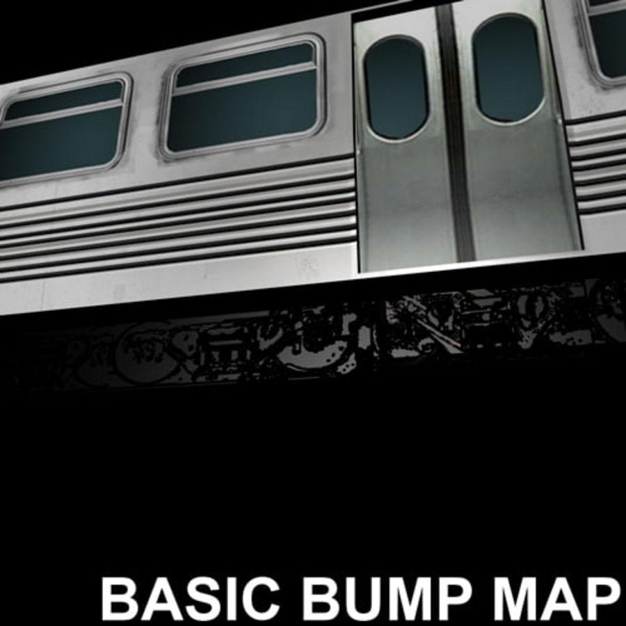 Вагон метро низкополигональная royalty-free 3d model - Preview no. 3