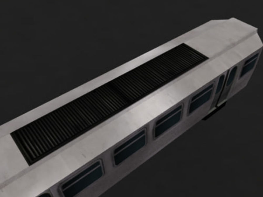 Вагон метро низкополигональная royalty-free 3d model - Preview no. 5