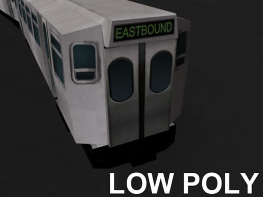 Вагон метро низкополигональная royalty-free 3d model - Preview no. 2
