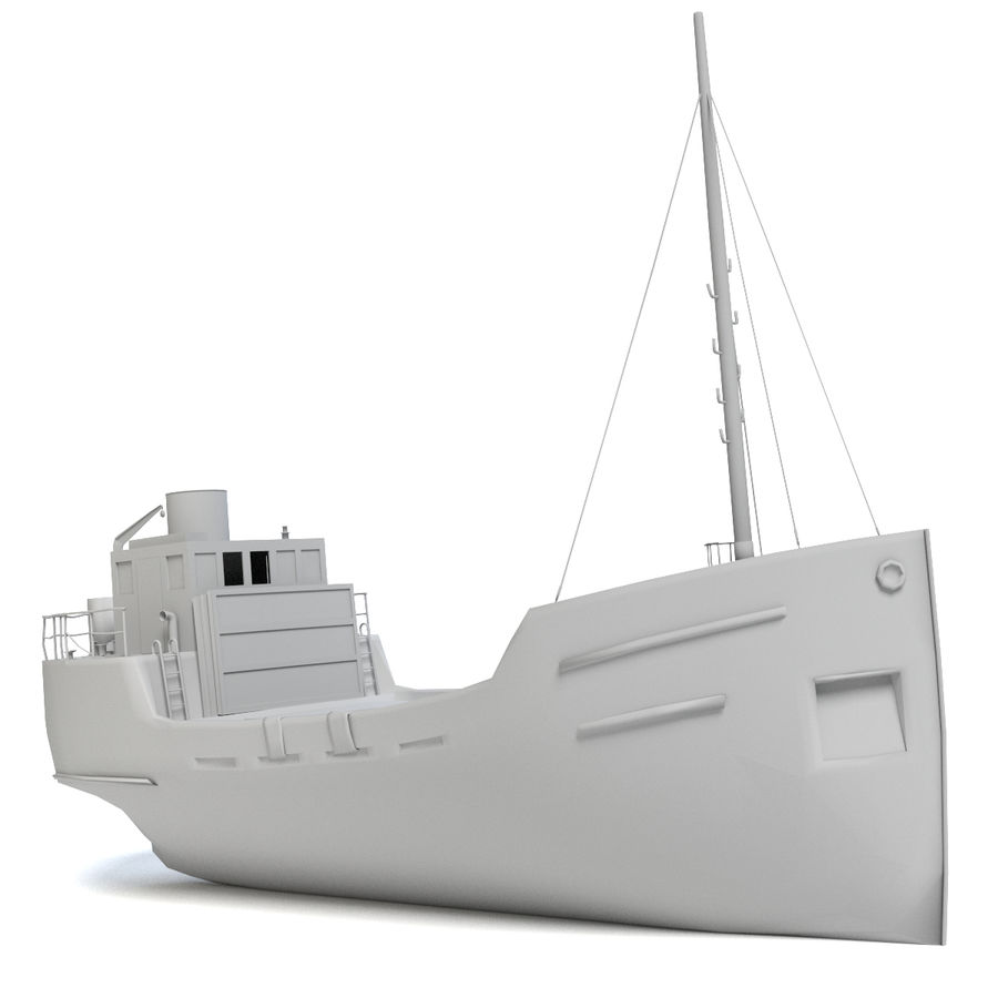 Rusty Cargo Ship royalty-free 3d model - Preview no. 5