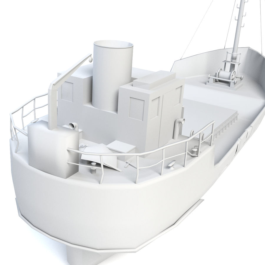 Rusty Cargo Ship royalty-free 3d model - Preview no. 7