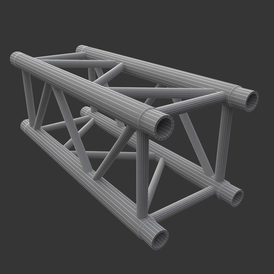 Straight Truss Collection (Square) royalty-free 3d model - Preview no. 7