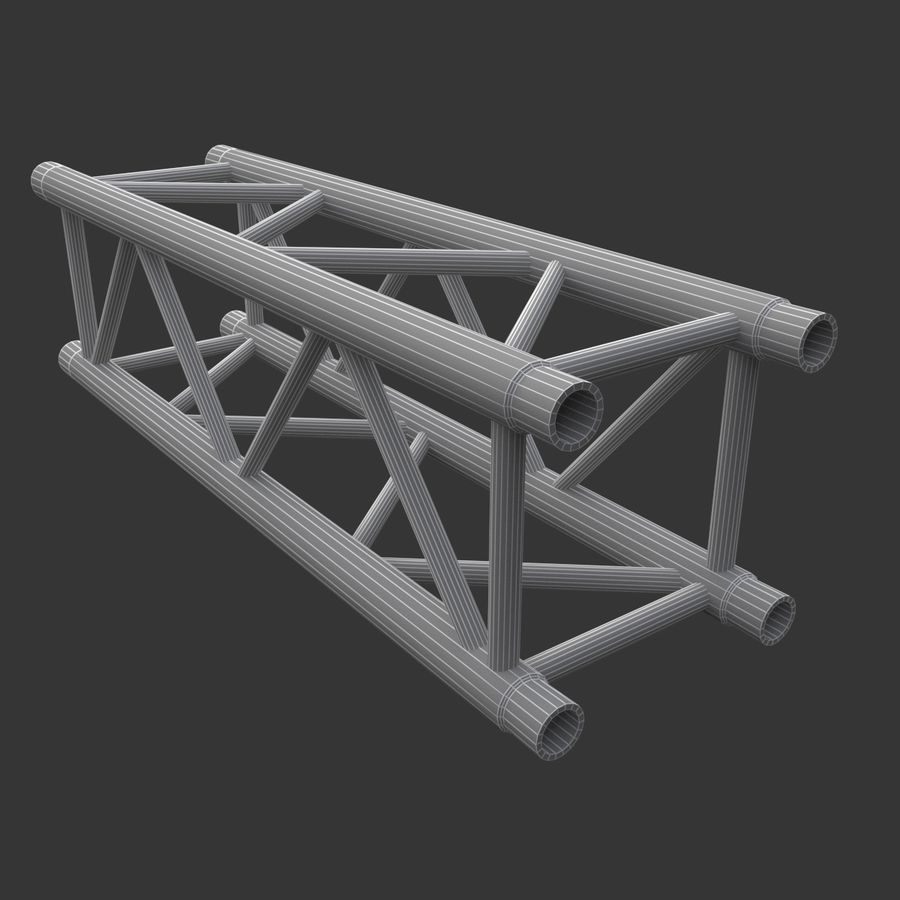 Straight Truss Collection (Square) royalty-free 3d model - Preview no. 9