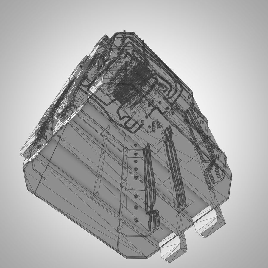 Asansör royalty-free 3d model - Preview no. 13