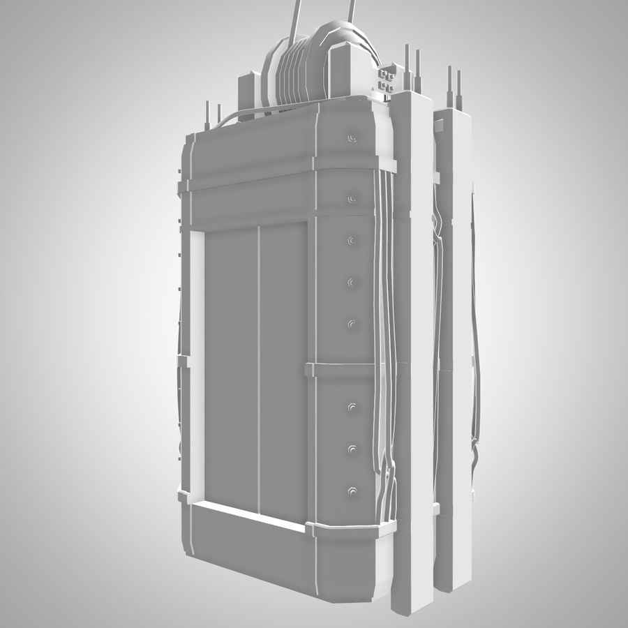 Asansör royalty-free 3d model - Preview no. 3
