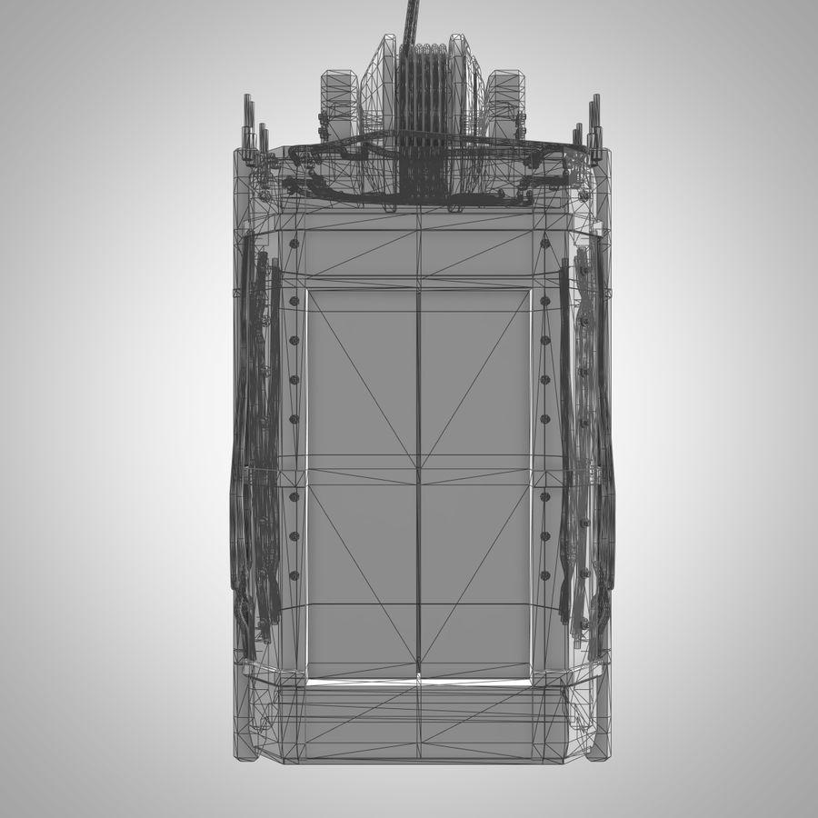 Asansör royalty-free 3d model - Preview no. 10