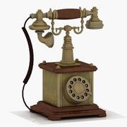 Vintage telefon 2 3d model