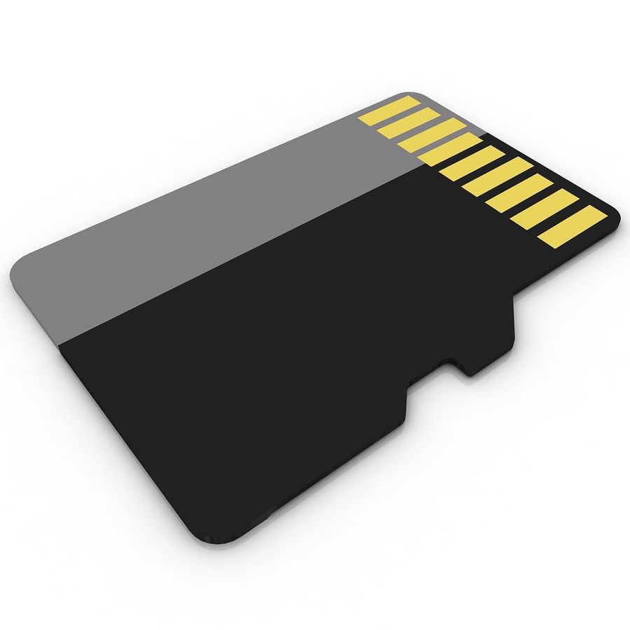 Memory Card Micro SD 2 royalty-free 3d model - Preview no. 4