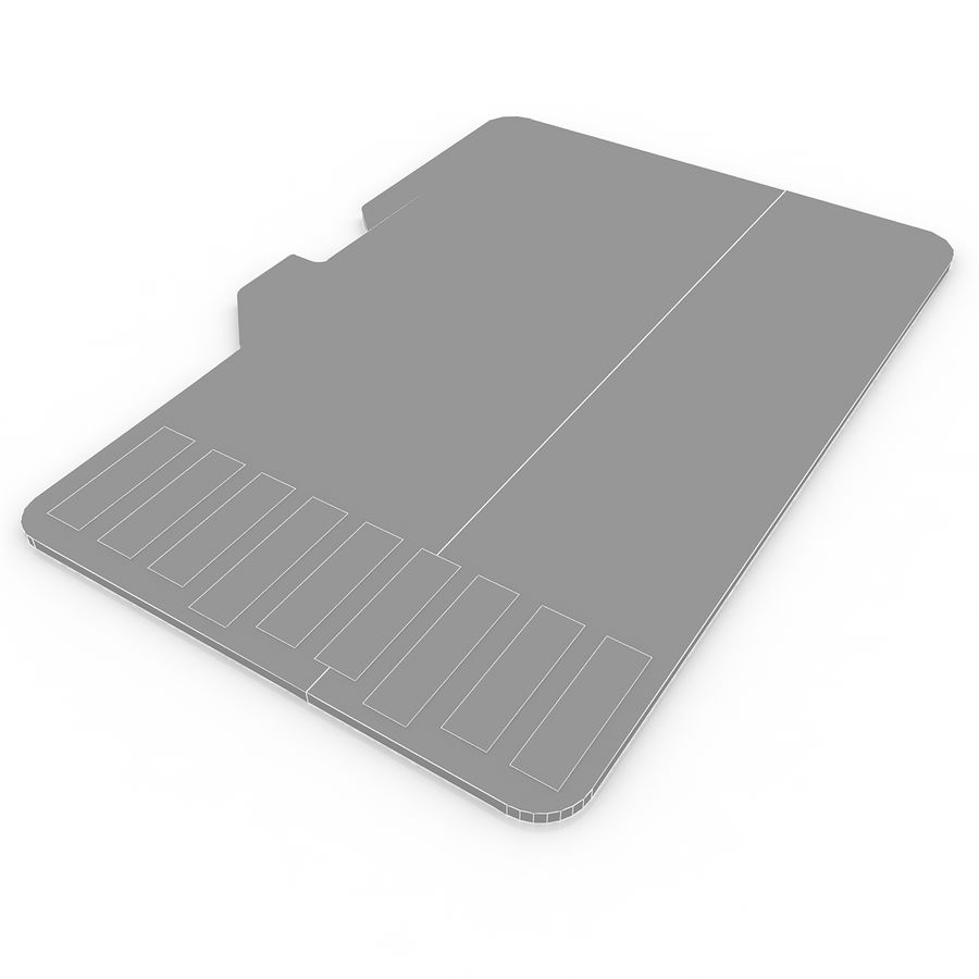 Memory Card Micro SD 2 royalty-free 3d model - Preview no. 7