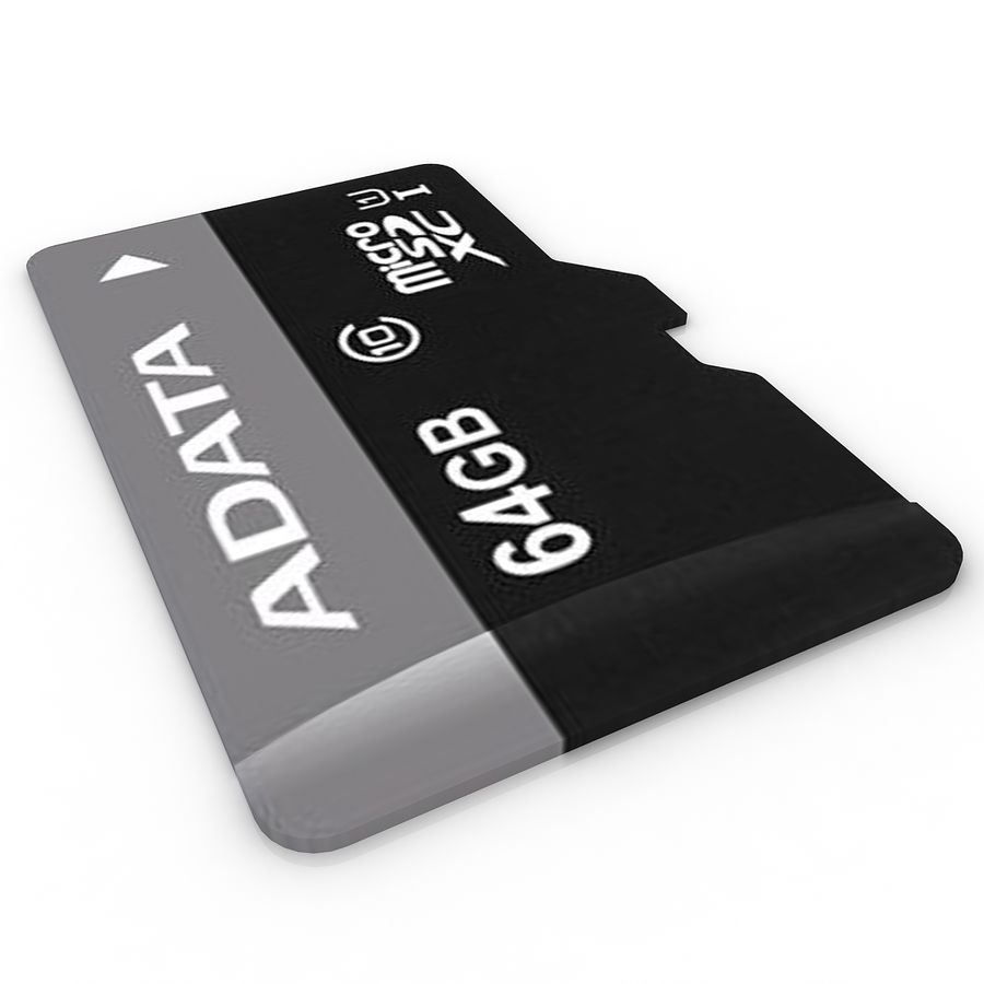 Memory Card Micro SD 2 royalty-free 3d model - Preview no. 3