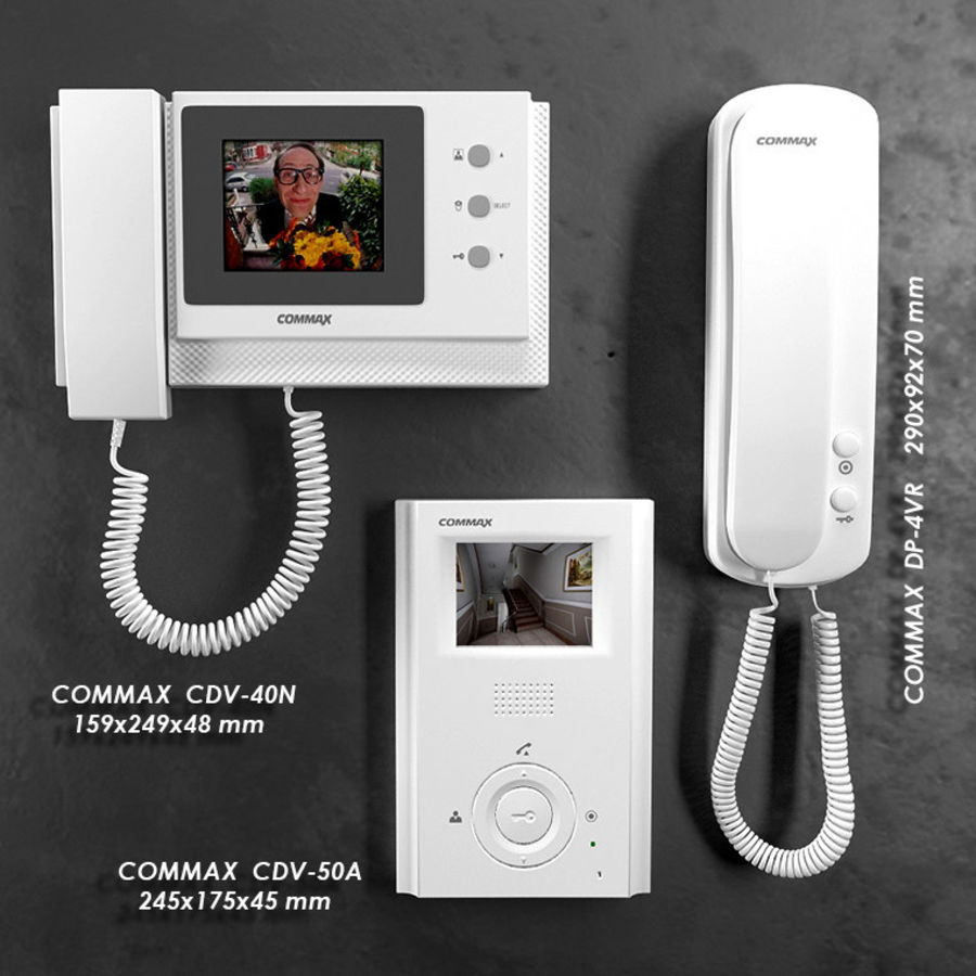 Intercoms & Video phone royalty-free 3d model - Preview no. 1