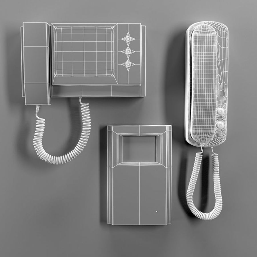 Intercoms & Video phone royalty-free 3d model - Preview no. 4