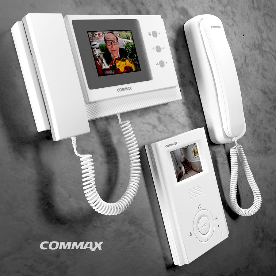 Intercoms & Video phone royalty-free 3d model - Preview no. 5