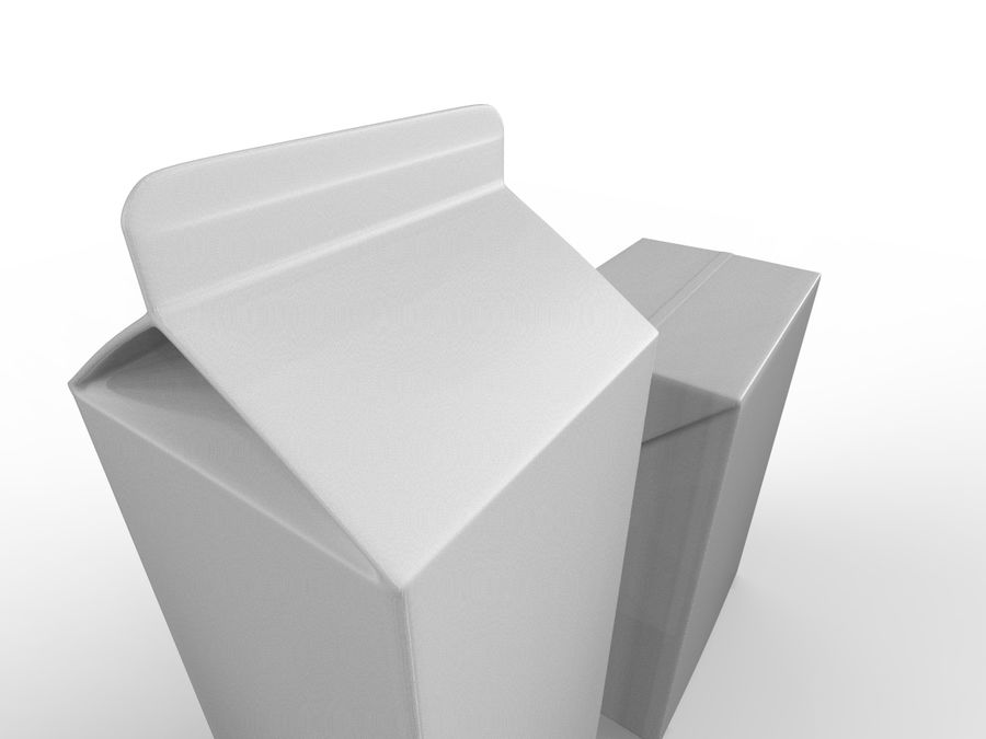 carton box juice and milk royalty-free 3d model - Preview no. 4