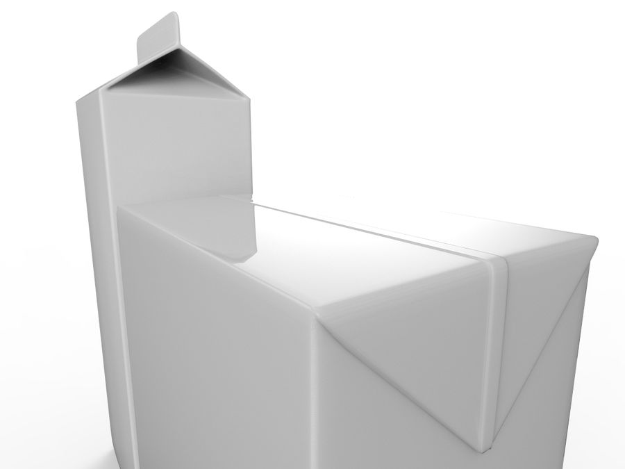 carton box juice and milk royalty-free 3d model - Preview no. 3