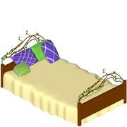 natürliches Bett 3d model