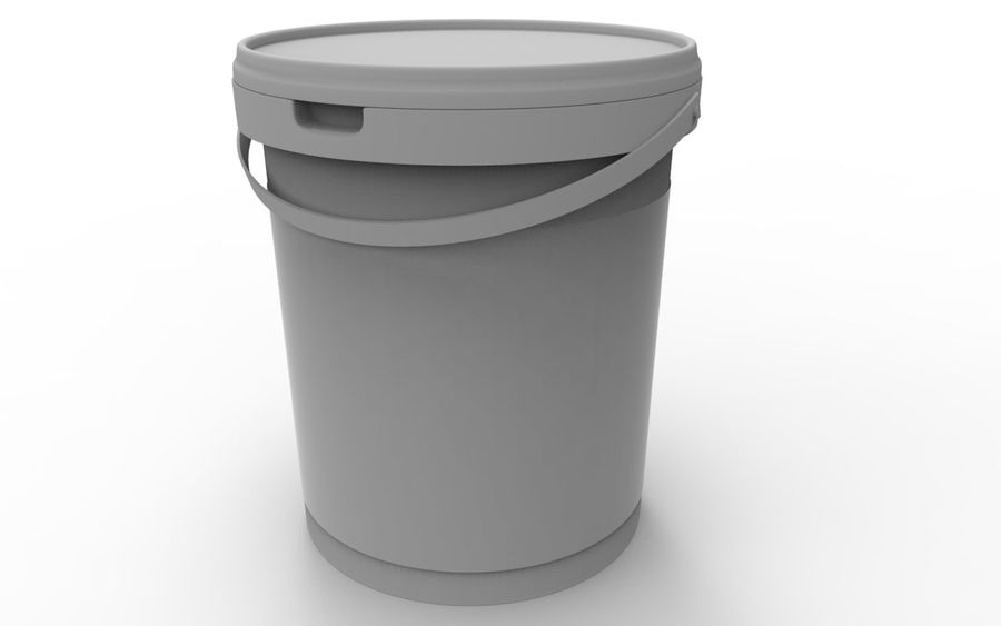 Bucket royalty-free 3d model - Preview no. 4