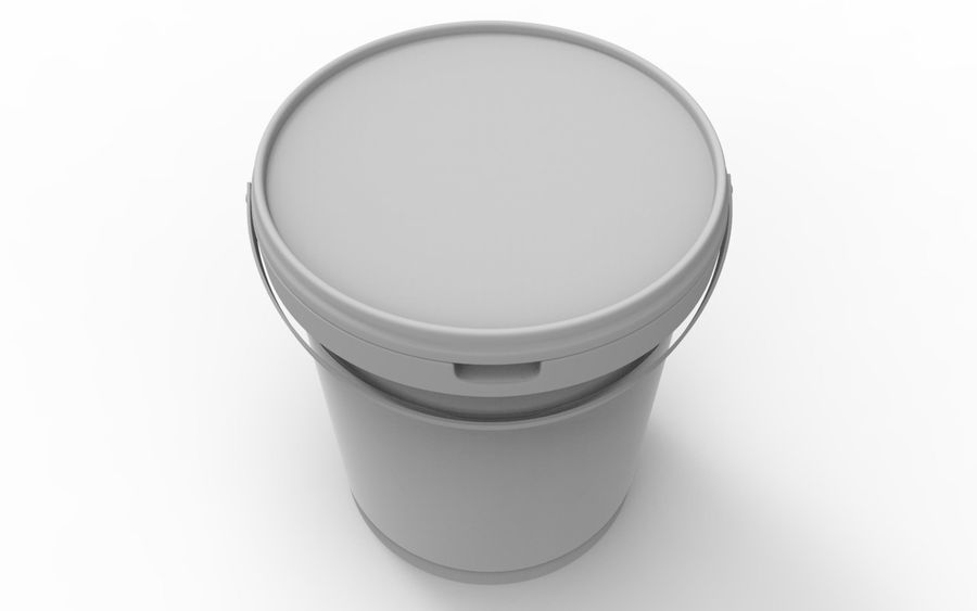 Bucket royalty-free 3d model - Preview no. 6