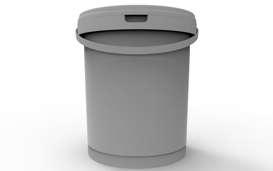 Bucket royalty-free 3d model - Preview no. 7