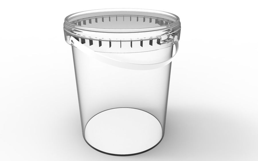 Bucket royalty-free 3d model - Preview no. 3