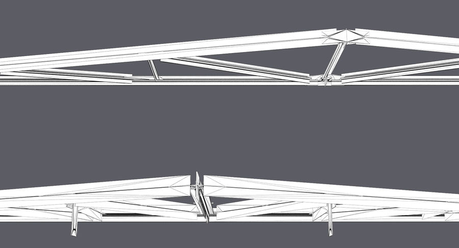 Truss royalty-free 3d model - Preview no. 6
