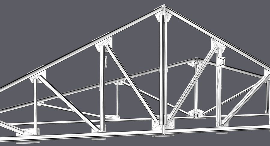 Truss royalty-free 3d model - Preview no. 7