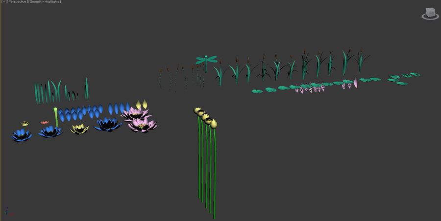 Plantes des marais royalty-free 3d model - Preview no. 2