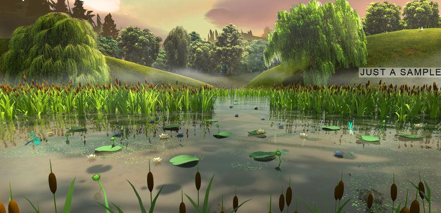 Plantes des marais royalty-free 3d model - Preview no. 7