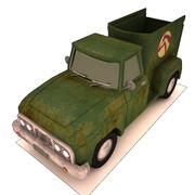 卡通马拖车皮卡 3d model