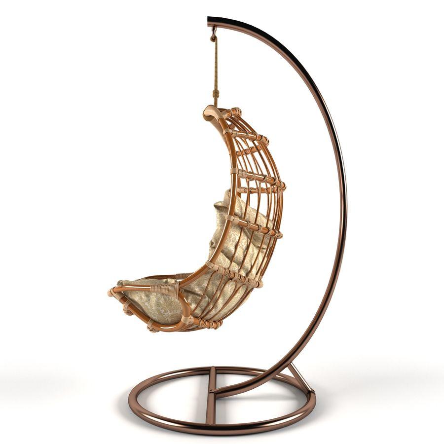 hängande stol royalty-free 3d model - Preview no. 4