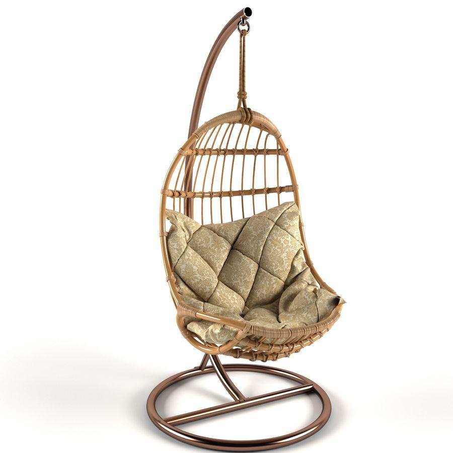 hängande stol royalty-free 3d model - Preview no. 3