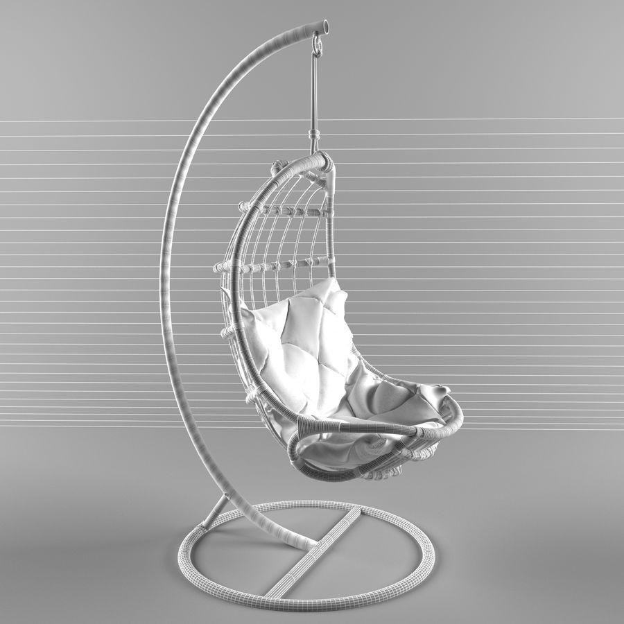 hängande stol royalty-free 3d model - Preview no. 5