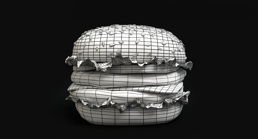 Hamburger royalty-free 3d model - Preview no. 6