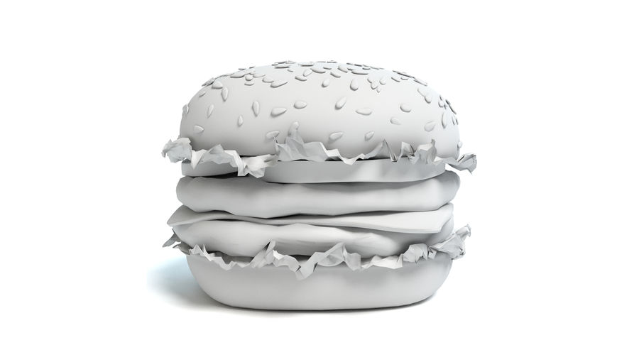 Hamburger royalty-free 3d model - Preview no. 5