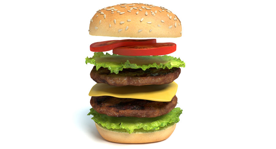 Hamburger royalty-free 3d model - Preview no. 4