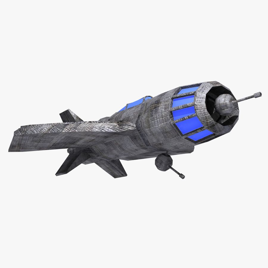 Space Fighter Tigron royalty-free 3d model - Preview no. 5
