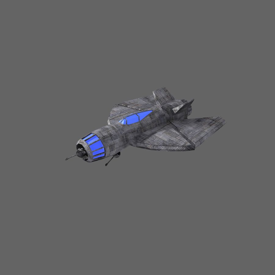Space Fighter Tigron royalty-free 3d model - Preview no. 4